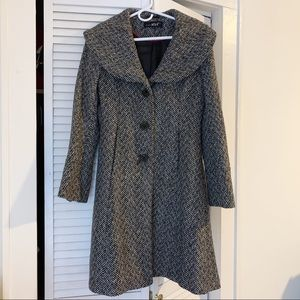 Herringbone Metallic Peacoat Women's Size S